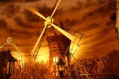 抽的水的转动的风车 图库摄影
