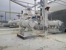 抽的石油精炼热的产品泵浦  免版税图库摄影