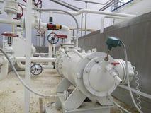 抽的石油精炼热的产品泵浦  库存照片