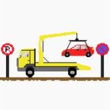 抽空装置拖曳去汽车 免版税库存图片