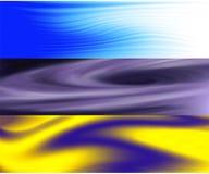 抽象三张相联波浪和空间 库存例证