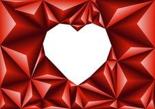 抽象三角几何心脏多角形背景 免版税库存照片