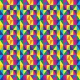 抽象三角几何无缝的背景。 图库摄影