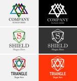 抽象三角商标 免版税库存照片