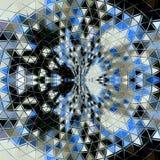 抽象三角星五颜六色的圈子背景 Mosaicblue,灰色,黑色,白色回合 库存图片