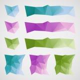 抽象三角正文框 免版税库存图片