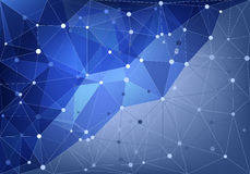 抽象三角网 库存图片