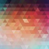 抽象三角背景 向量 免版税库存照片