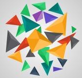 抽象三角Lowpoly背景 图库摄影