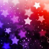 抽象不可思议的星背景 库存图片