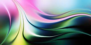 抽象与光线影响,传染媒介例证的传染媒介多彩多姿的被遮蔽的波浪背景 向量例证