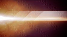 抽象与微粒动画的波浪流程橙色背景 库存例证