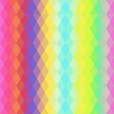 抽象与明亮的色的菱形的行家无缝的样式 几何的背景 向量 免版税库存图片