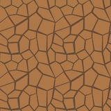 抽象与沙漠的传染媒介多角形无缝的样式 库存图片
