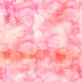 抽象与油漆五颜六色的洗涤的水彩无缝的样式  免版税库存图片