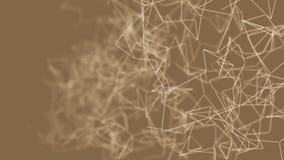 抽象与线和小点的圈颜色几何背景 皇族释放例证