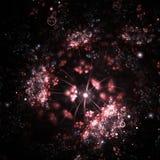 抽象与聚光灯的分数维水下的背景 免版税图库摄影