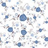 抽象与花卉bac的高雅无缝的模式 免版税库存照片