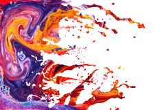 抽象丙烯酸漆飞溅背景 免版税库存图片