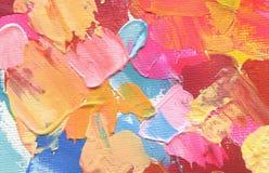 抽象丙烯酸酯和水彩绘画 背景画布grunge例证纹理向量 库存照片