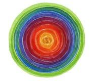抽象丙烯酸酯和水彩圈子被绘的背景 向量例证