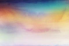 抽象丙烯酸酯和水彩掠过冲程被绘的背景 库存照片