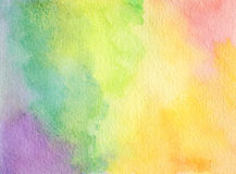 抽象丙烯酸酯和水彩掠过冲程被绘的背景 免版税库存图片