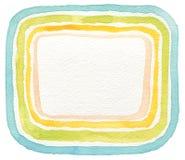 抽象丙烯酸酯和水彩框架被绘的背景 库存照片