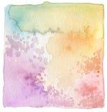 抽象丙烯酸酯和水彩被绘的框架 免版税库存图片