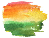 抽象丙烯酸酯和水彩被绘的框架 免版税图库摄影