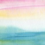 抽象丙烯酸酯和水彩被绘的背景 免版税库存图片