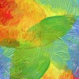 抽象丙烯酸酯和水彩被绘的背景 库存图片