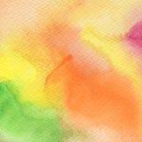 抽象丙烯酸酯和水彩被绘的背景 库存照片