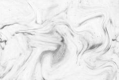 抽象丙烯酸酯的波动图式,白色大理石墨水纹理backgrou 免版税库存照片