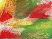抽象丙烯酸酯的绘画-秋天颜色 免版税库存图片