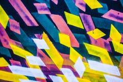 抽象丙烯酸酯的背景现代绘画片段 五颜六色的r 库存照片
