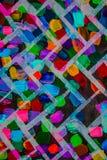 抽象丙烯酸酯的画布原始绘画 砖明亮的墙壁 背景 免版税库存图片