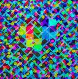 抽象丙烯酸酯的画布原始绘画 砖明亮的墙壁 背景 库存照片