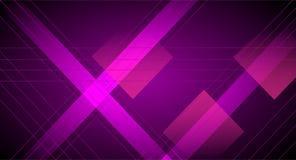 抽象丝带和方形的设计样式水平和digonal线跟随的背景的 库存例证