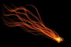 抽象丝带火焰 库存照片