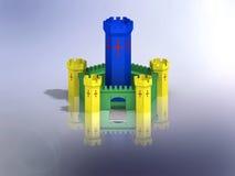 抽象中世纪城堡 库存照片