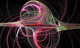 抽象中心盘绕颜色分数维颜色图象主要彩虹严格的鞭子 墙纸 创造性的数字式艺术品 免版税库存图片