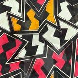 抽象之字形几何无缝的样式 免版税库存图片