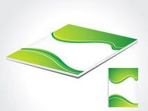 抽象书套绿色 库存照片