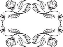 抽象乱画框架 免版税库存照片