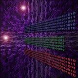 抽象二进制代码数据例证 免版税库存照片