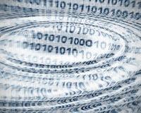抽象二进制代码 免版税库存图片