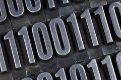 抽象二进制数 免版税库存照片