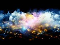 抽象云彩和光 免版税库存照片