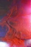 抽象云彩墨水红色 库存图片